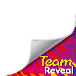 Team Reveal Page Curl template WING