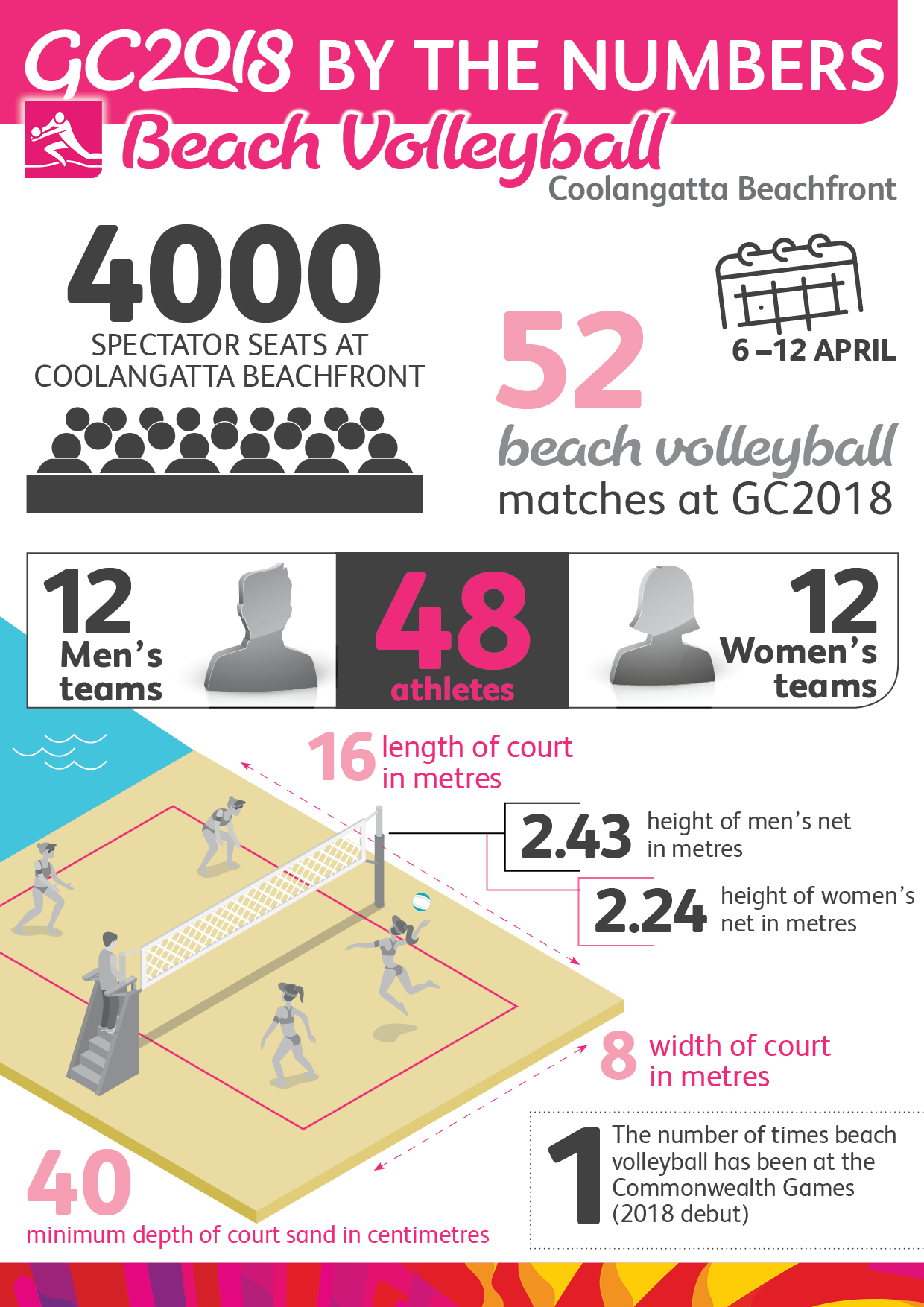 Beach Volleyball - Infographics