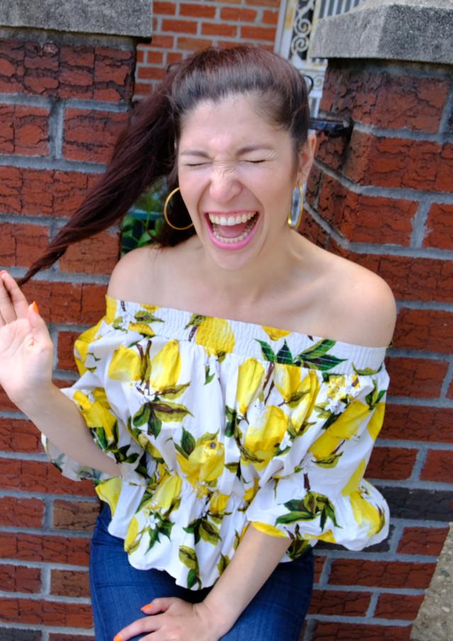 Maggie Howell Lemon Shirt