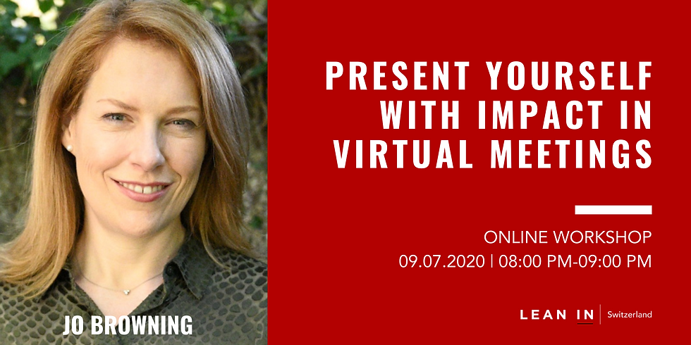 Present yourself with impact in virtual meetings