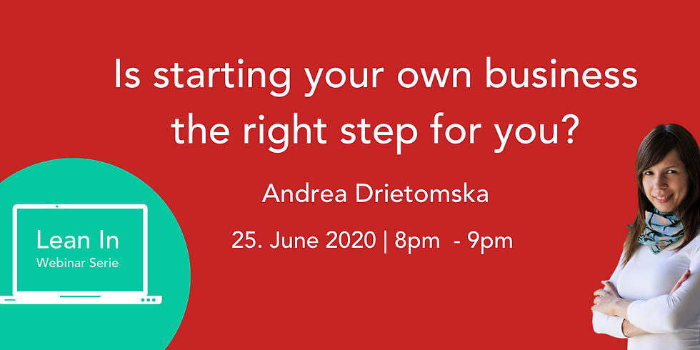 «Is starting your own business the right step for you?»