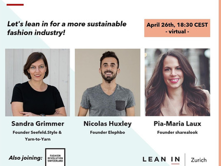 Lean In Zurich invites - Let's lean in for a more sustainable fashion industry!