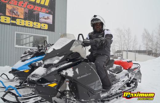 Activité de motoneige