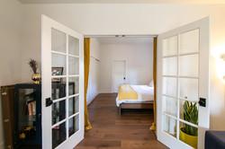 Double doors to master bedroom