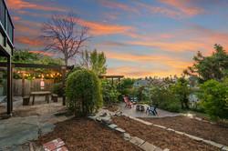 A sprawling backyard