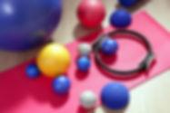 balls pilates toning stability ring roll