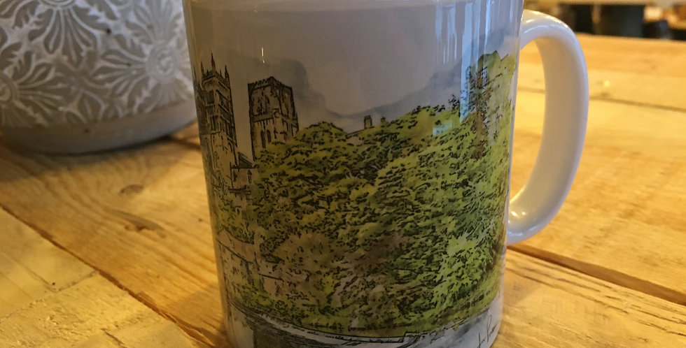 Durham Cathedral and greenery