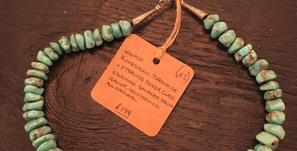 Navajo Kingsman Turquoise Necklace