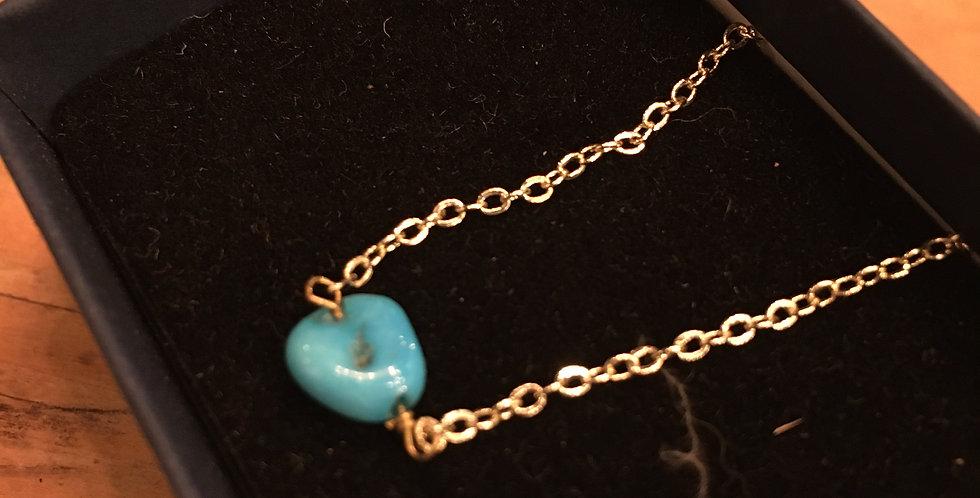 NaturalKingsman Turquoise, Gold Chain