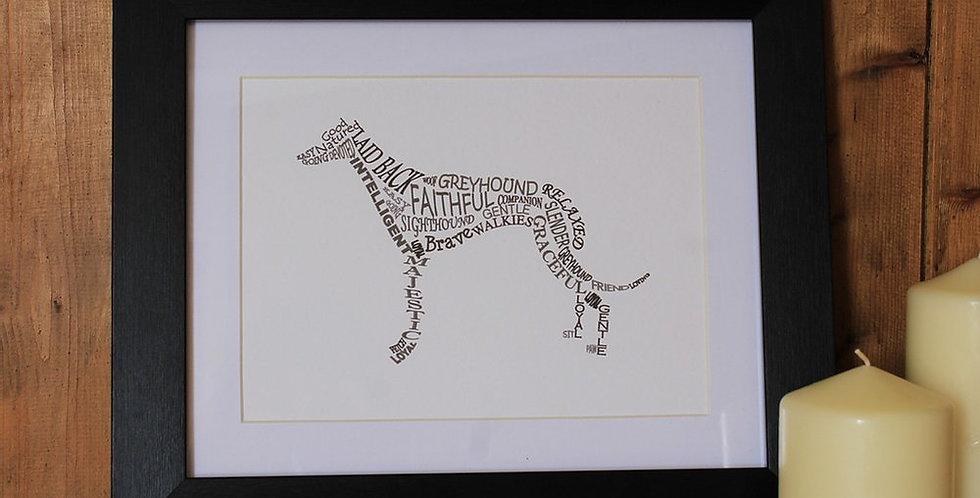 Framed Dog Pictures - CHOOSE THE BREED