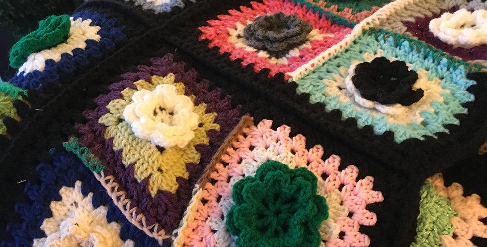 Multi colour Flowers Blanket