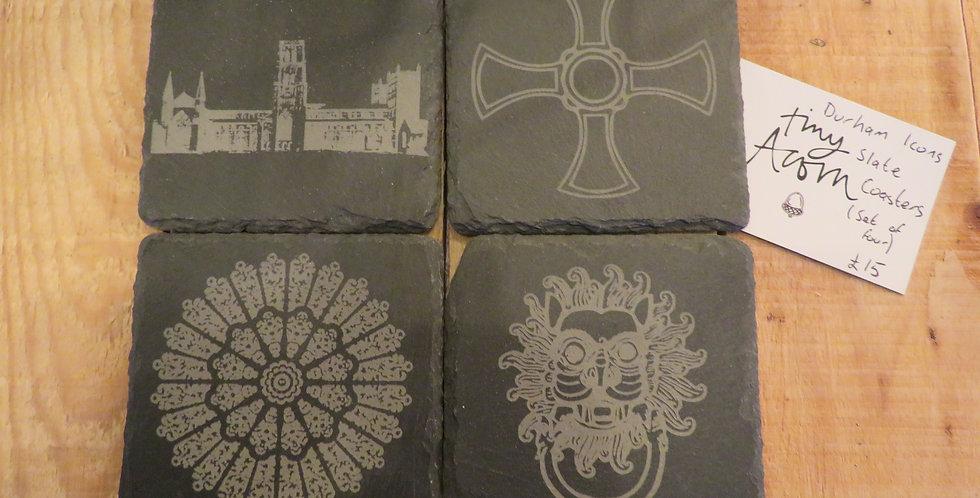 Durham Slate Coasters- 4 Pack
