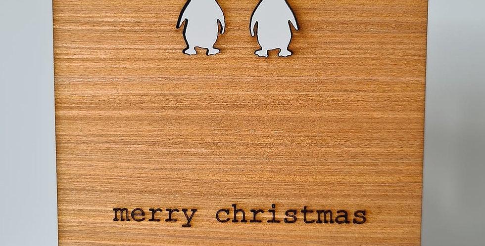 'Pop up' penguin christmas card