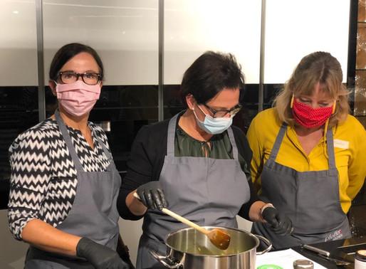 Erster Kochkurs unter Corona-Bedingungen
