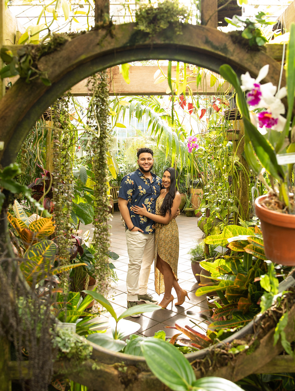 SF Conservatory of Flowers Engagement/Prewedding Photos