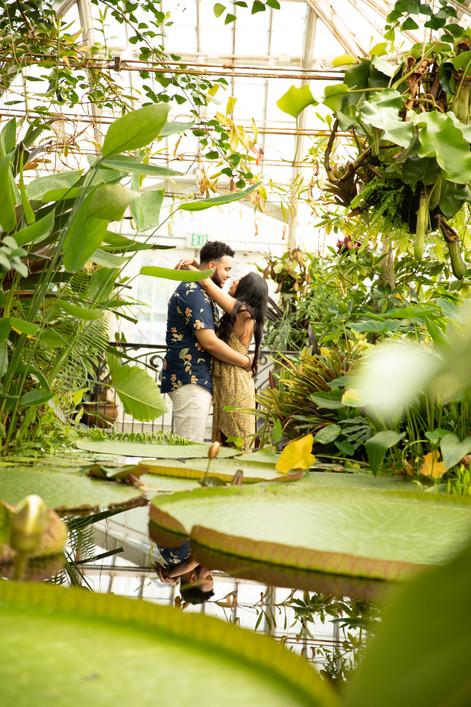 SF Botanical Gardens Engagement photographer