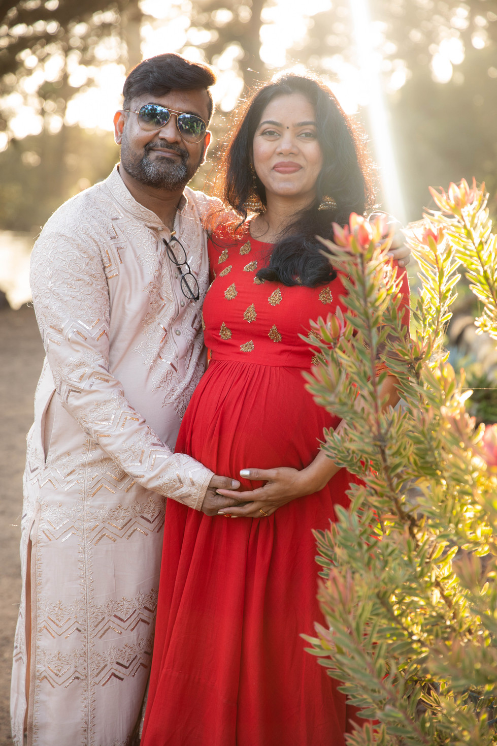 San Francisco Stow Lake Maternity Photoshoot