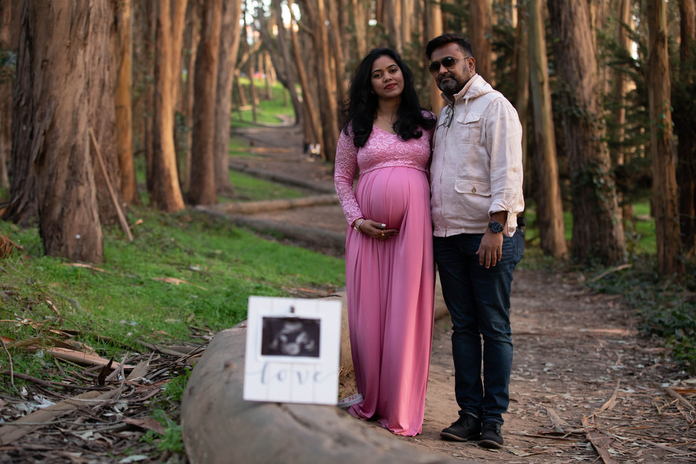 San Francisco Lovers Lane Maternity Photoshoot