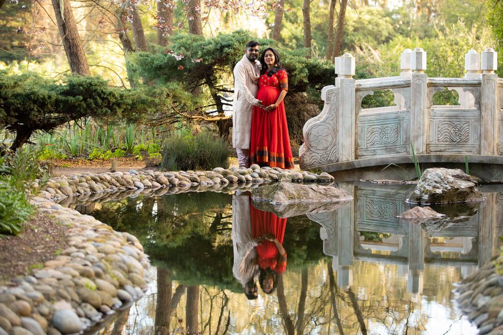 San Francisco Stow Lake Maternity Photoshoot