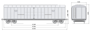 Крытый вагон 138м3 (модель 11-280) ТРЕЙДГАРАНТ