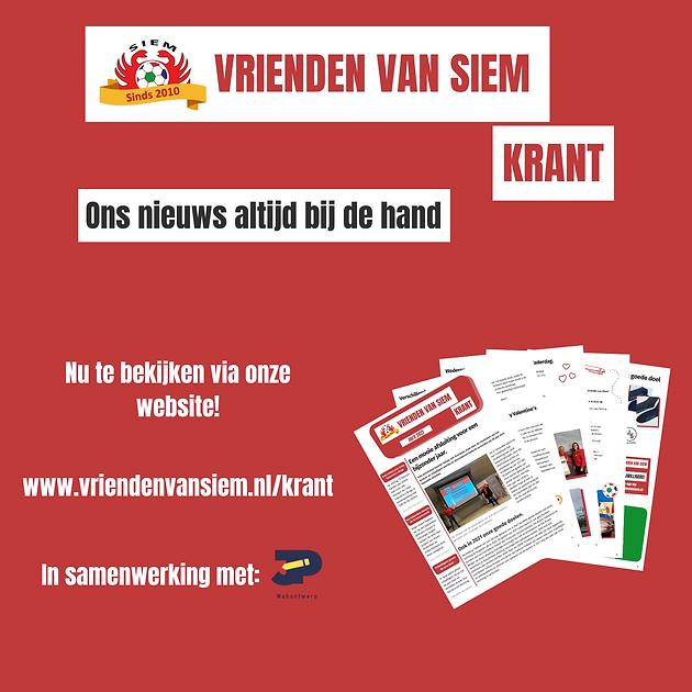 Promotie - Vrienden van Siem Krant april