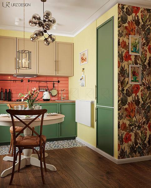 Дизайн кухни в стиле Фьюжн / Современная классика / Эклектика