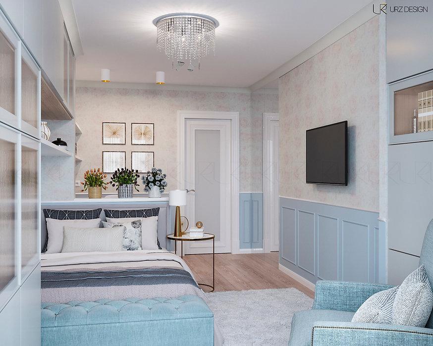 Дизайн спальни в стиле Фьюжн / Современная классика / Эклектика