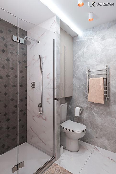 Дизайн ванной комнаты в стиле Фьюжн / Современная классика / Эклектика