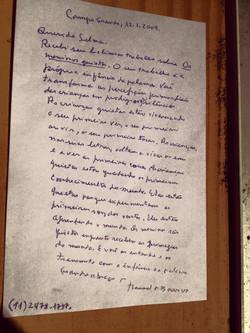 Carta de Manoel de Barros