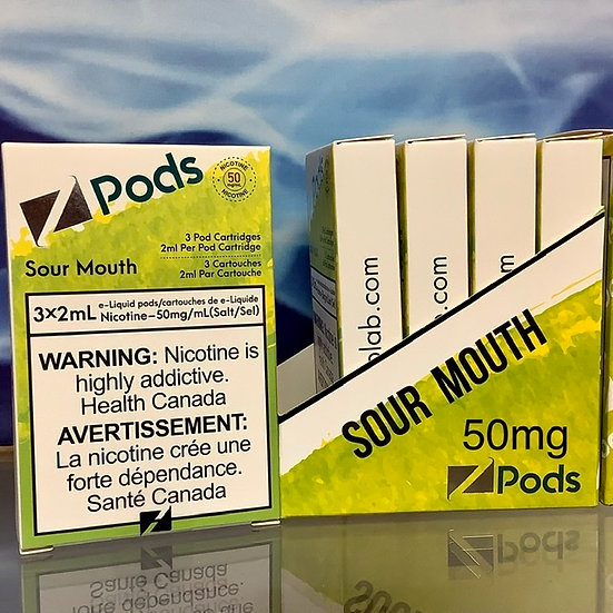 SOUR MOUTH STLTH COMPATIBLE Z PODS 2% NICOTINE