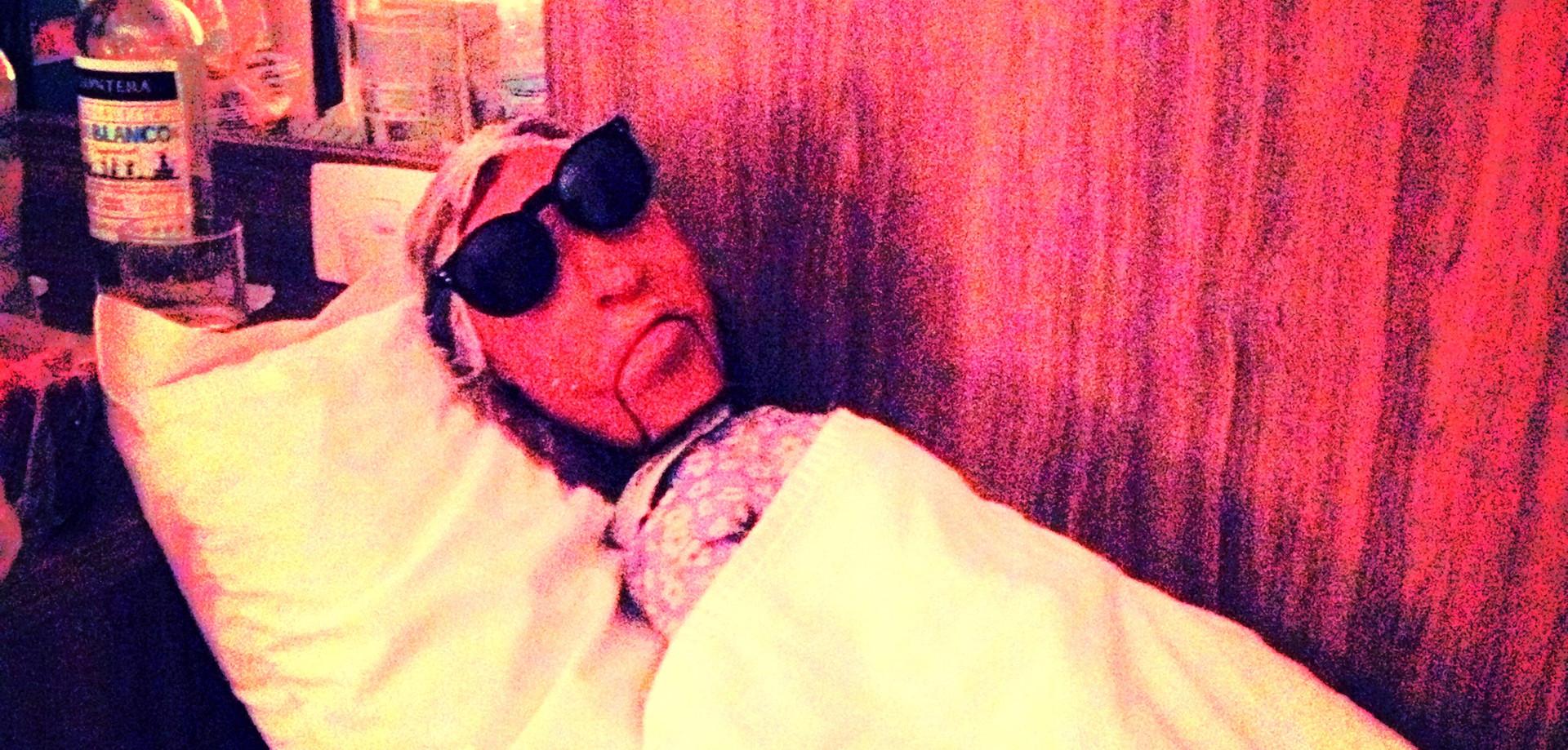 Dalva é colocada pra dormir
