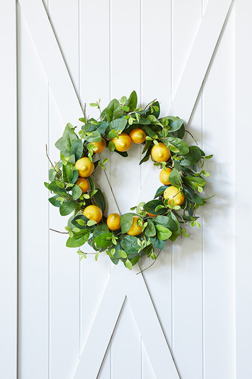 Faux Lemon Wreath 24""