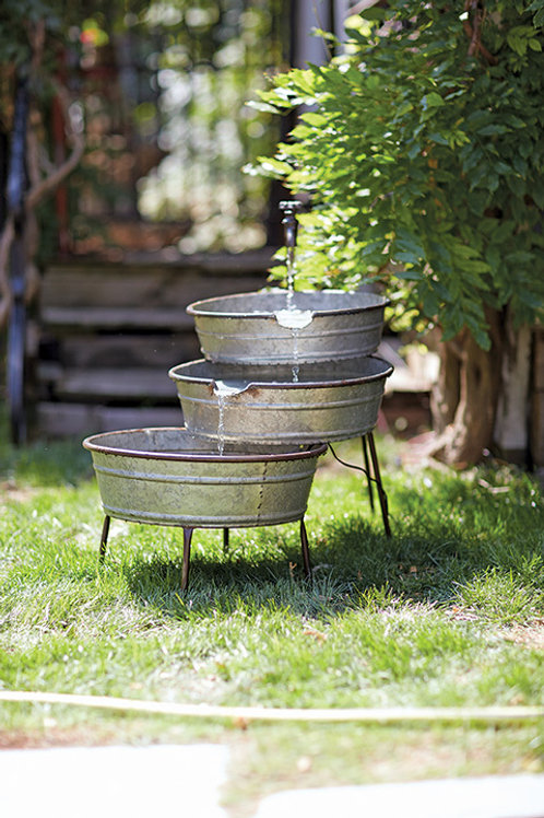 Garden Fountain with tubs