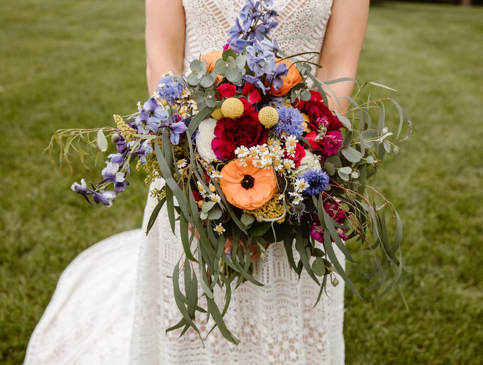 Angie 's bridal bouquet