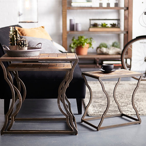 Accent tables - Wood and metal