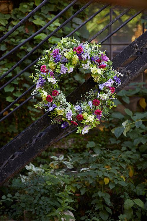 "Summer Floral Wreath - Faux  28"" Diameter"