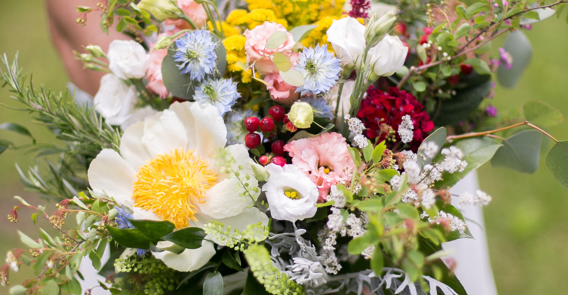Wild and fun bridal bouquet