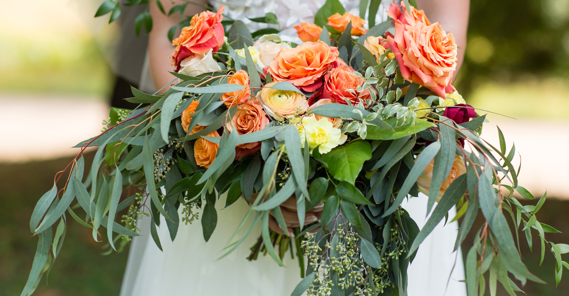 Bright, fun bridal bouquet