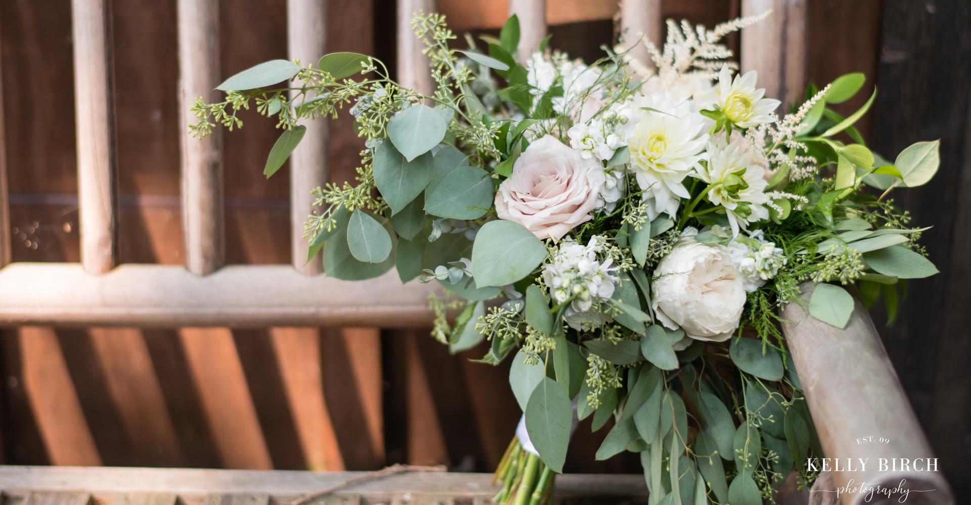 Lauren's bridal bouquet