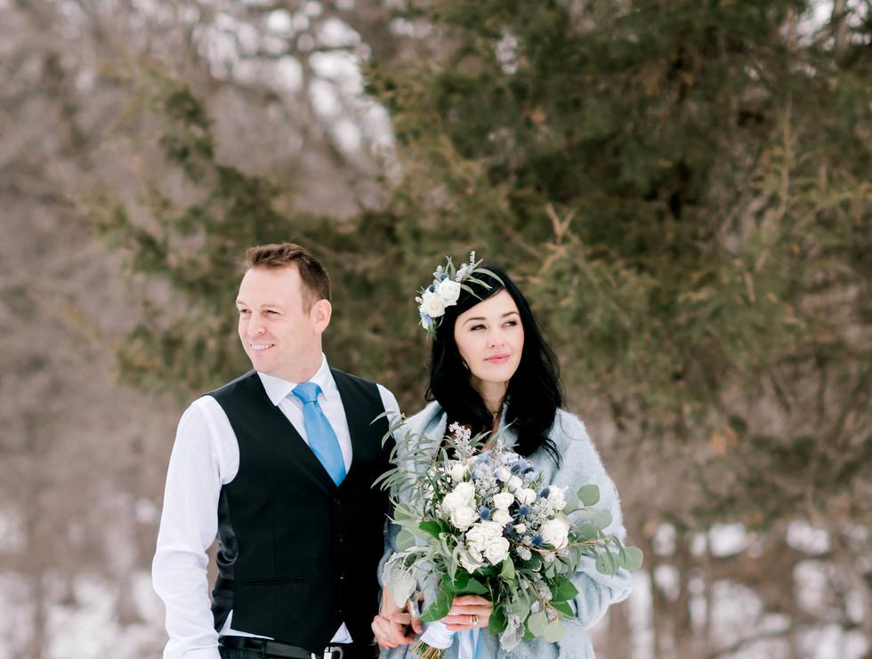 Winter Wedding at Hidden Greens