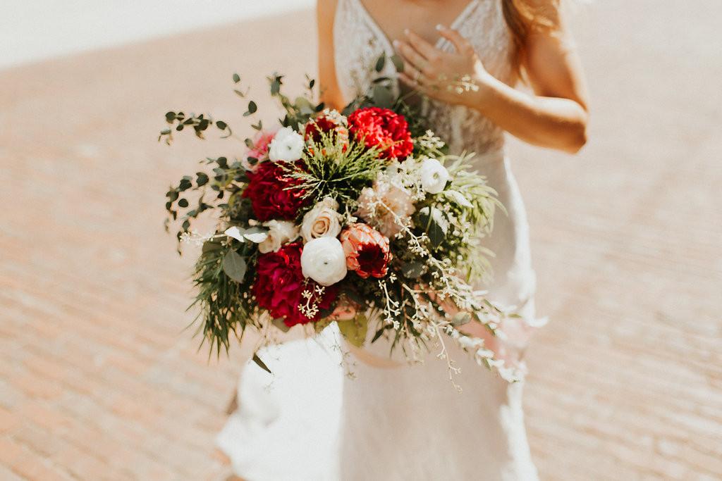 Alyson's bridal bouquet
