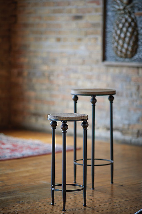 Accent tables - Wood and metal  (Set of 2)