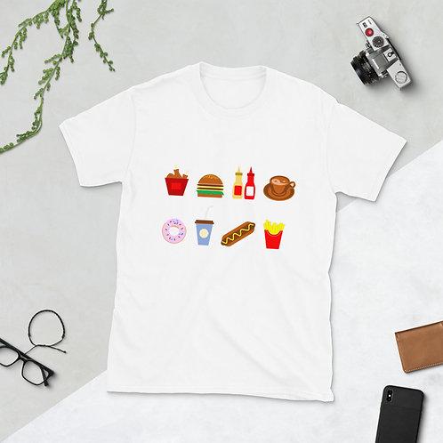 Croczile Short-Sleeve Unisex Food T-Shirt