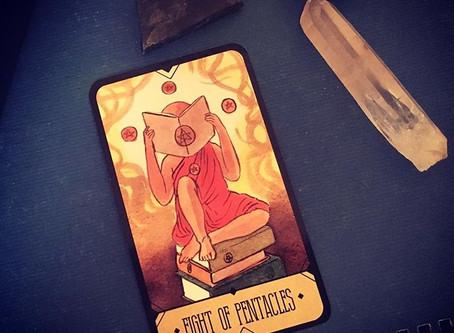 Daily Tarot Advice:  8 Pentacles - Sasuraibito Tarot