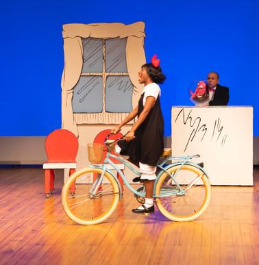Sally on bike