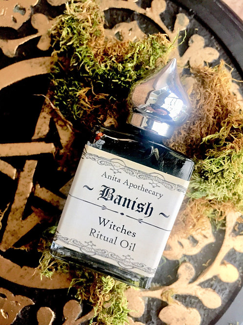 Banish Witches Ritual Spell Oil