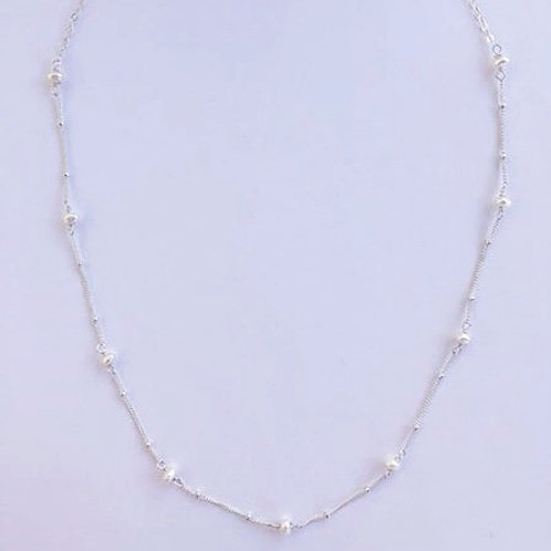 Fresh Water Pearl Silver Necklace