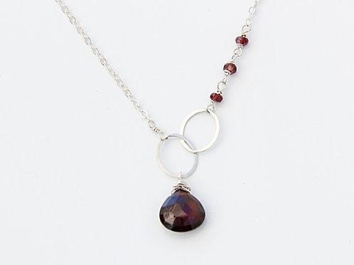 Garnet asymmetrical Necklace