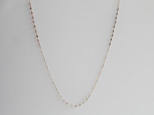 Gold Pyrite & Moonstone Rondelles Necklace