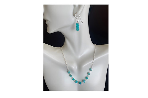 Amazonite in sterling silver set
